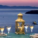 Santorini Gem Reception Area evening